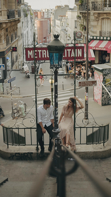 Metropolitan Paris Couple shooting session
